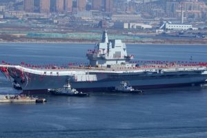 China's first indigenously built aircraft carrier leaves for sea trials