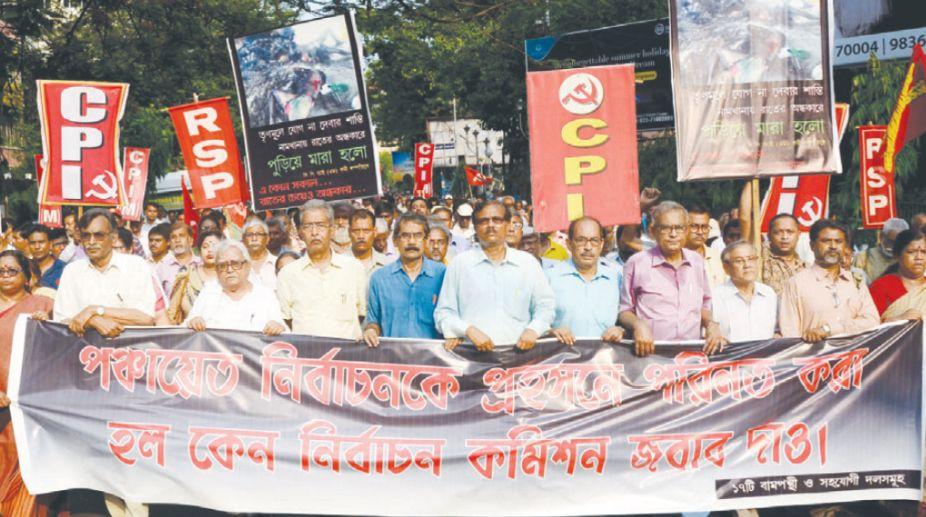 Bengal rural polls, violence, Dilip Ghosh, TMC