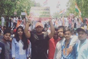 Youth Congress protests against fuel price rise