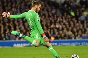 Manchester United custodian David de Gea reacts to clinching maiden Golden Glove