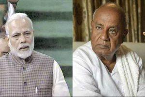 Amid Karnataka drama, PM Modi calls JD(S) chief Deve Gowda