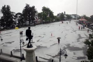 In pics: Squall, heavy hail storm lash Shimla