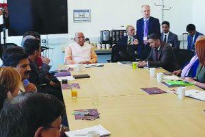 Haryana CM woos investors in UK