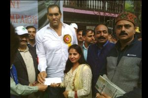 'The Great Khali' declared brand ambassador for plastic free Himachal