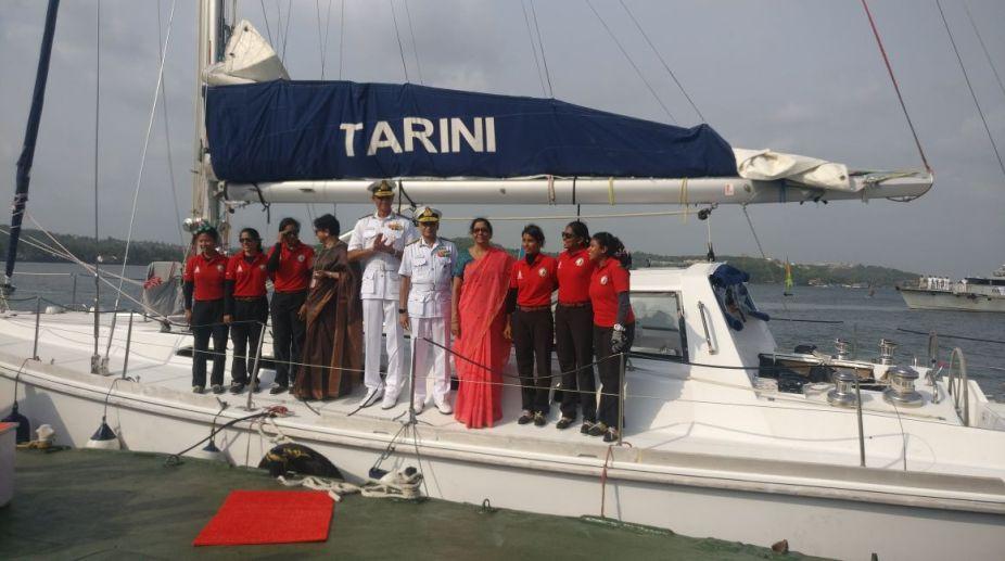 INSV Tarini crew