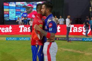 IPL 2018 | MI vs KXIP: KL Rahul, Hardik Pandya exchange their jerseys after the match