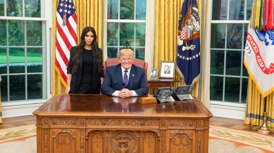 Kim Kardashian meets Donald Trump