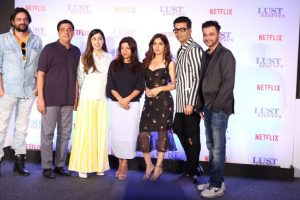 Karan Johar, Zoya Akhtar at launch of Lust Stories in Mumbai