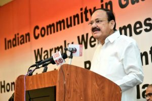Indians community fortunate to be the inheritors of great heritage: Naidu