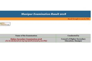 Manipur Class 12/XII Results 2018 declared on manresults.nic.in | Check Manipur Board HSE Results 2018