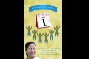 Mamata Banerjee greets working class on May Day