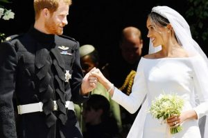 What represented India on Meghan Markle's wedding dress?