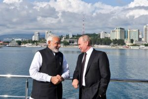 PM Modi takes boat ride on Black Sea with Putin