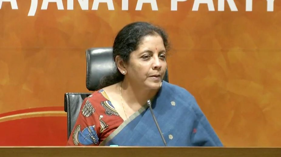 Black money charges against Chidambaram is Congress's 'Nawaz Sharif moment': Nirmala Sitharaman