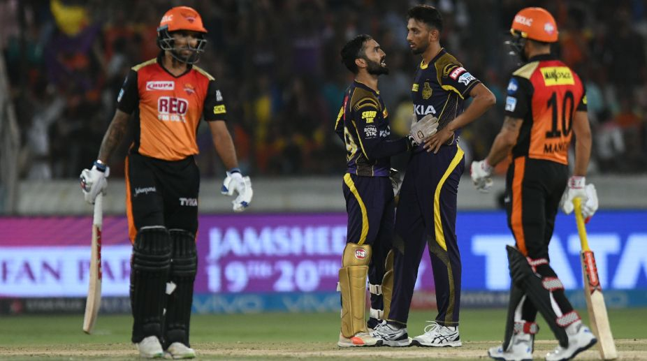 IPL 2018 Qualifier, SRH vs KKR, SRH vs KKR qualifier, Dinesh Karthik, Kane Williamson, Rashid Khan, Siddarth Kaul, Andre Russell, Chris Lynn,