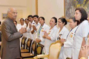 Nurses are nation builders, says President Ram Nath Kovind