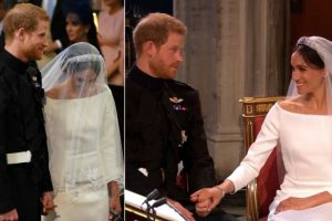In Pictures: Royal couple Prince Harry, Meghan Markle's look on their wedding day