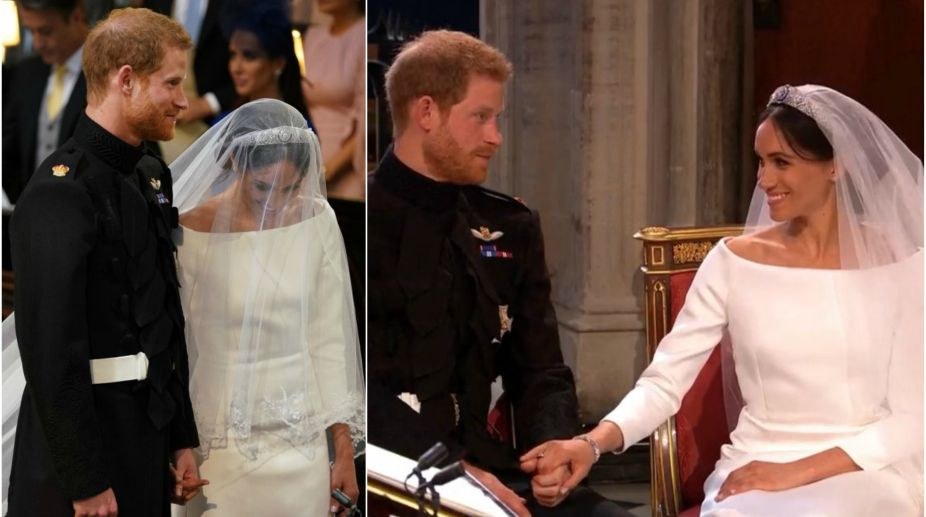 in pictures royal couple prince harry meghan markle s look on their wedding day royal couple prince harry meghan