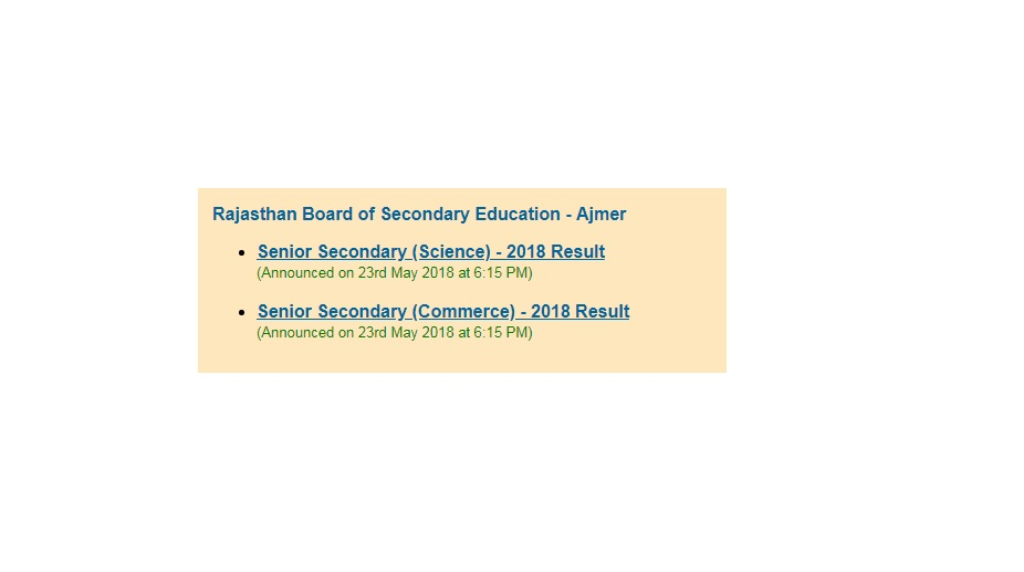 BSER Class 12 Science, Commerce Results 2018 declared at rajeduboard.rajasthan.gov.in | Rajasthan Class 12 Results 2018, Passing Percent