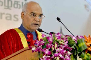 Kovind addresses 160th convocation of Madras University