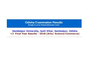 Sambalpur University plus 3 final year results 2018 for Arts/ Science/Commerce declared on Orissaresults.nic.in | Check now