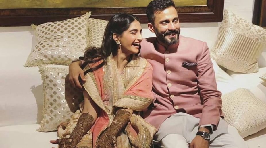 Sonam Kapoor reception: Newlyweds look stunning as they arrive at venue