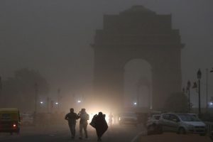 Partly cloudy sky in Delhi, dust storms likely