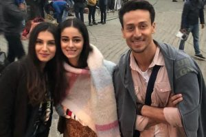 Tiger Shroff, Tara Sutaria, Ananya Pandey bond on sets of 'Student of the Year 2' | See pictures