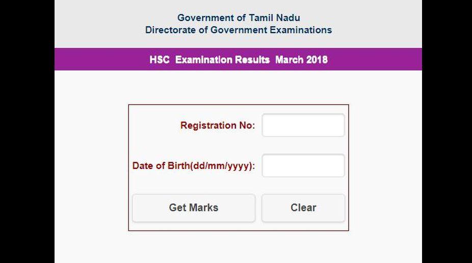TN HSC Class 12 results 2018