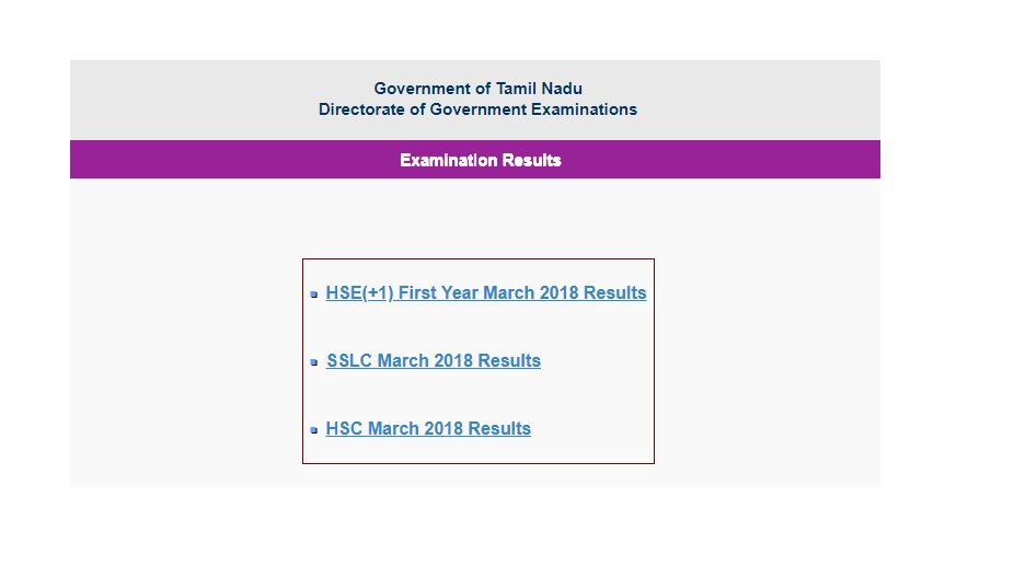 TN HSC Plus One/ Class 11 Result 2018 declared at tnresults.nic.in   Check now