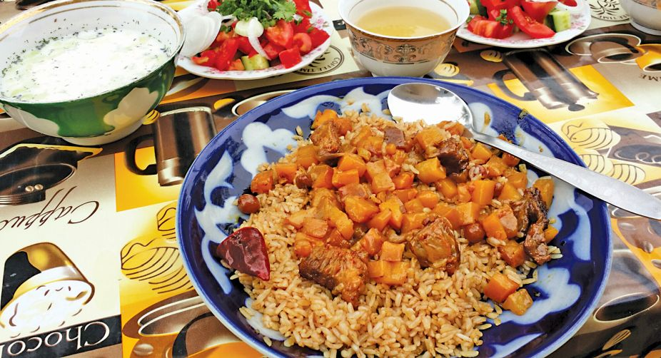 A plate of plov