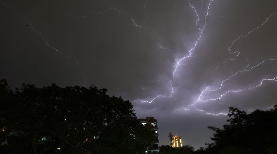 Thunderstorm and lightening