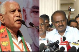 BJP stages walkout even as Kumaraswamy wins trust vote