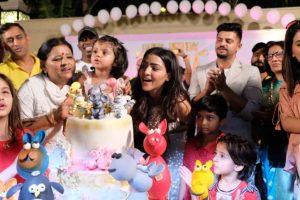 Watch| MS Dhoni-led Chennai Super Kings celebrates birthday of Suresh Raina's daughter Gracia