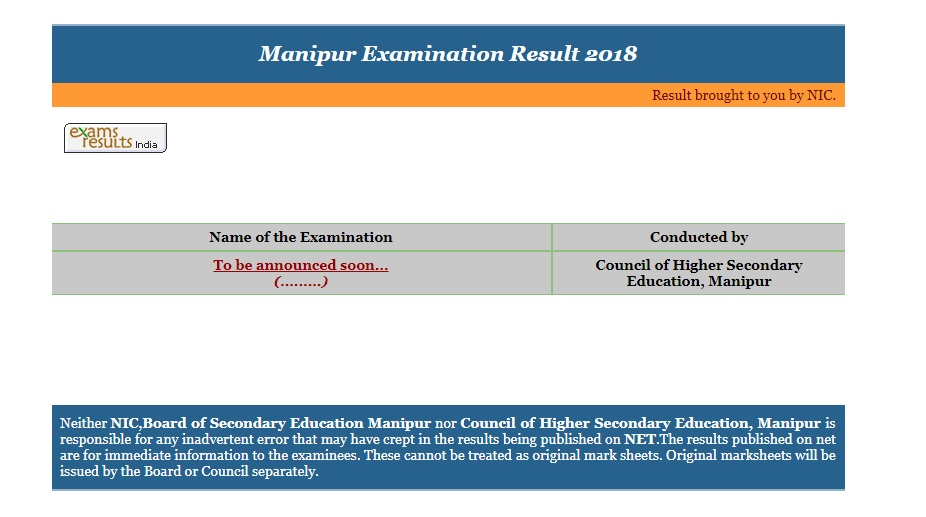 Manipur, Board, Class 12 Results 2018, XII Results 2018, Results 2018, manresults.nic.in