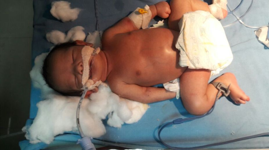 The abandoned newborn girl, Meerut