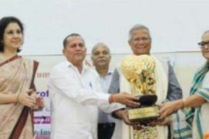 Prof. Yunus, Nobel Peace Laureate gets 11th KISS Humanitarian award