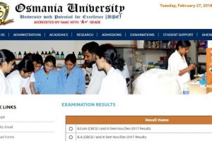 Osmania University Degree Results 2018 for BA/B.Com/B.Sc available online at osmania.ac.in, manabadi.co.in | Check now