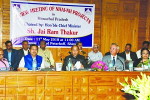 Jai Ram reviews four-laning projects in Himachal Pradesh