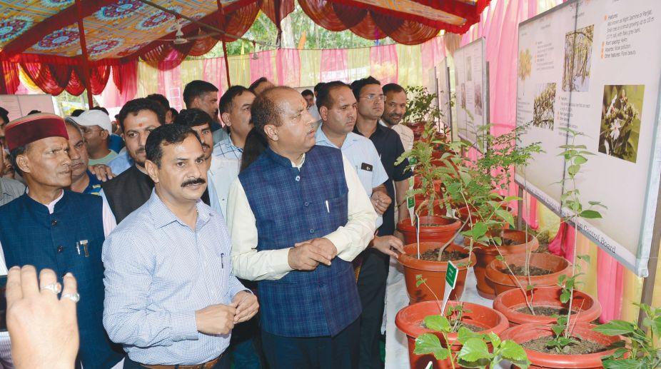 Chief Minister Jai Ram Thakur attending a function on World Environment Day at Sundernagar in Mandi district. (Photo: SNS)