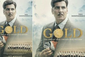 Akshay Kumar sports an intense look in Gold poster