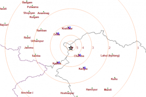 Low intensity quake jolts Chamba, third in the same place in last 12 days