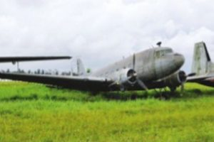 Biju,s iconic Dakota used in Indonesia exploit still stuck at Kolkata airport