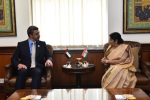 Sushma holds talks with UAE FM