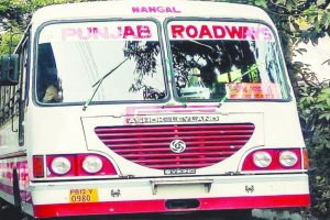 Contractual employees of Punjab Roadways on strike