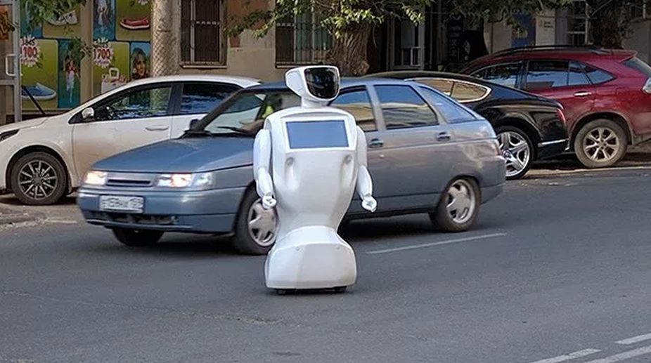 Robot, Russia, Promobot IR77, machine learning