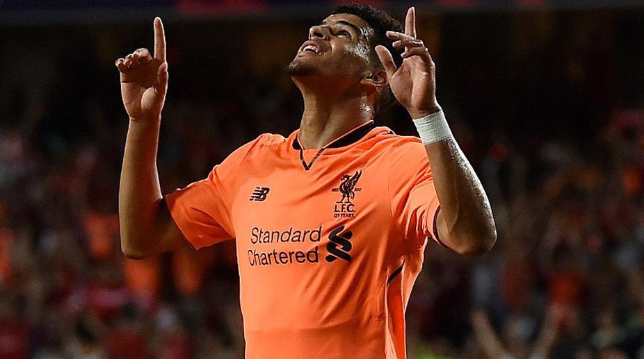 Dominic Solanke, Liverpool F.C., Premier League, Liverpool Jersey, Liverpool Away Jersey