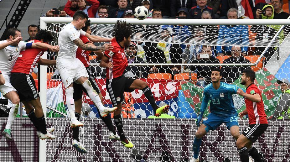 Jose Gimenez, Uruguay, Egypt, 2018 FIFA World Cup