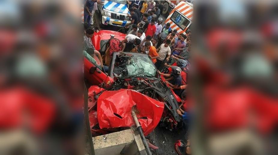 Ferrari Crash Kolkata