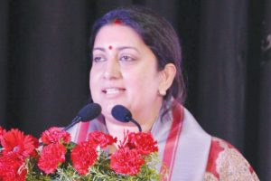 Gujarat Congress demands Smriti's ouster for MPLAD funds' misuse